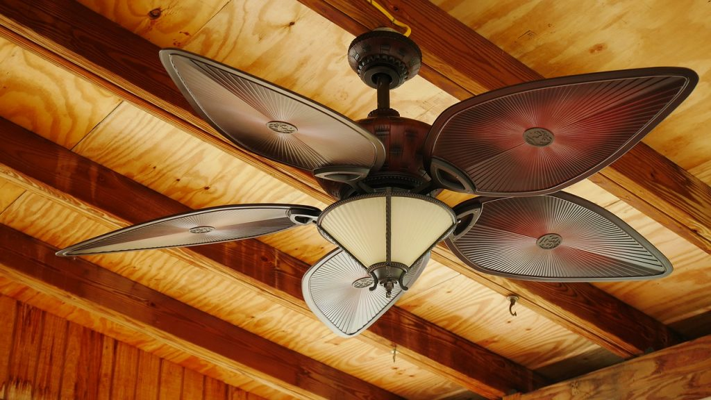 ceiling fan improving indoor air circulation